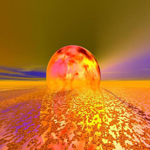 Egg of an Energy by Arun Trivedi , Digital Digital Art, Digital Print on Canvas, Brown color