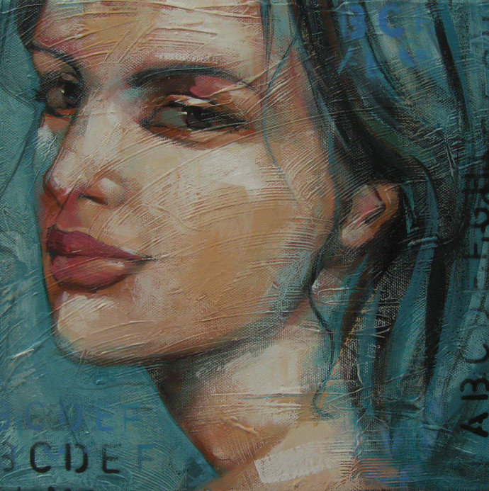 Expression Series by Anindya Mukherjee, Impressionism Painting, Acrylic on Canvas, Brown color