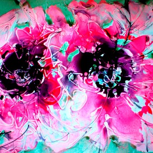 Imaginative Blooms Digital Print by Baljit Singh Chadha,Impressionism