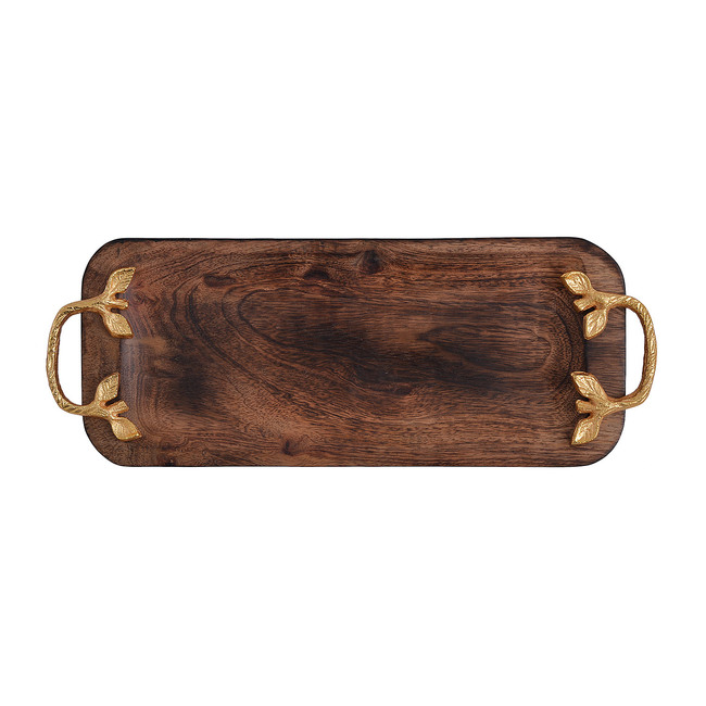 Rectangular Wooden Tray By The Yellow Door