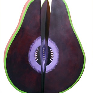 Purple Cosmic Seed by Kristine Michael, Pop Art Sculpture, Fiber Glass, White color
