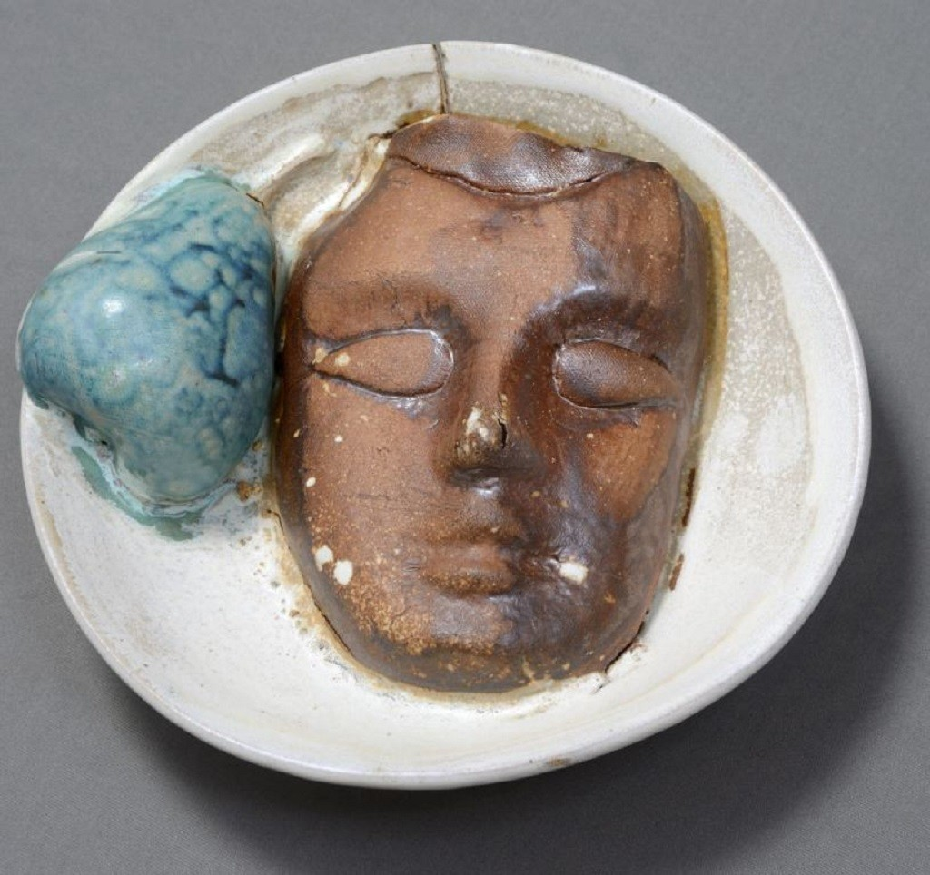 Symbiosis with Nature 2 by Kristine Michael, Pop Art Sculpture, Ceramic, Gray color