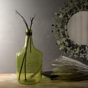 Alvin Large French Green Bottle Decorative Vase By Fabuliv