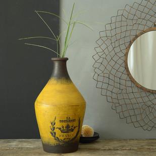 La Couronne Vintage Vase Yellow Antique Decorative Vase By Fabuliv