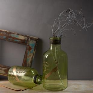 Xavier Green vase Set of 2 Garden Decor By Fabuliv