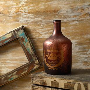 French Red Vintage Alvin Bottle Decorative Vase By Fabuliv