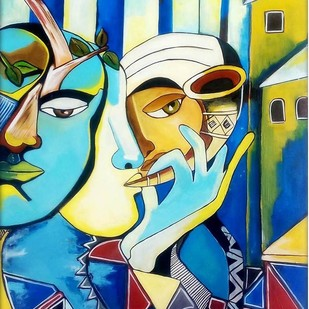 Untitled by PARESH MORE, Expressionism Painting, Acrylic on Canvas,