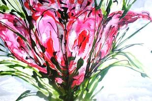 Imaginative Blooms Digital Print by Baljit Singh Chadha,Abstract