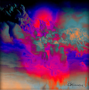 Untitled 1 by Arun Trivedi , Digital Digital Art, Digital Print on Canvas, Purple color