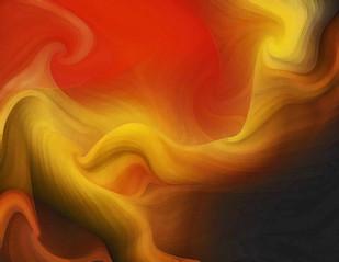 Waves by Arun Trivedi , Digital Digital Art, Digital Print on Canvas, Brown color