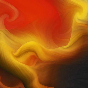 Waves by Arun Trivedi , Digital Digital Art, Digital Print on Canvas, Brown color
