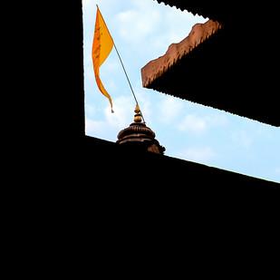 Framed Spirituality by Utkarsh Jumle, Image Photograph, Digital Print on Canvas, Black color