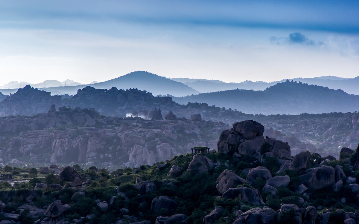 New Morning by Utkarsh Jumle, Image Photograph, Print on Canvas, Blue color