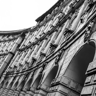 Rhythm in Architecture by Utkarsh Jumle, Image Photograph, Digital Print on Canvas, Gray color