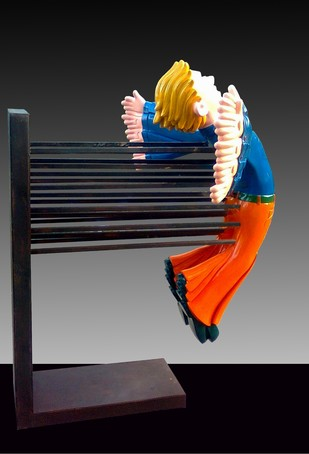 Only I Know How I Fly (2/3 edition) by Loknath Sinha, Pop Art Sculpture | 3D, Fiber Glass, Gray color