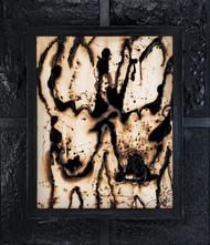 Twin Bulls by Simran KS Lamba, Abstract Painting, Mixed Media on Canvas, Gray color