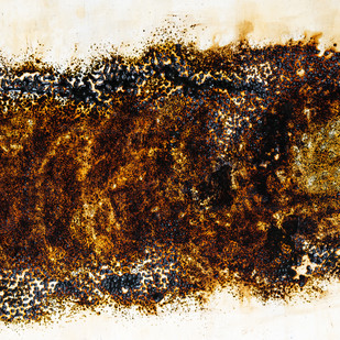 Cocoon by Simran KS Lamba, Abstract Painting, Mixed Media on Wood, Brown color