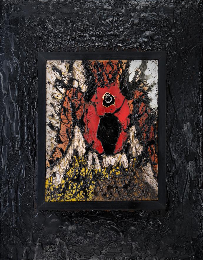 Birth by Simran KS Lamba, Abstract Painting, Mixed Media on Canvas, Gray color