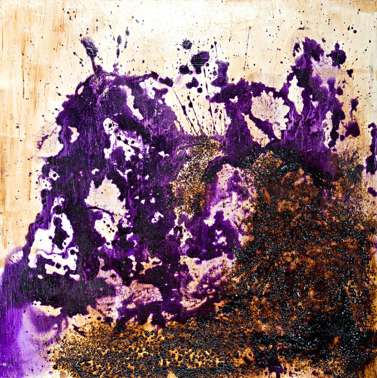Waves by Simran KS Lamba, Abstract Painting, Mixed Media on Wood, Brown color