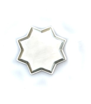 8 Point Star Plate With Kalai Set of 4 Serveware By AnanTaya