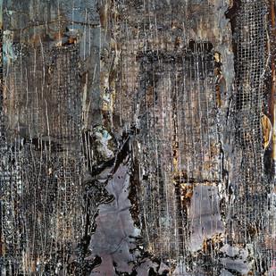 Sauntering in the Dusk by Simran KS Lamba, Abstract Painting, Mixed Media on Wood, Gray color