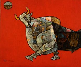 Celebration 19 Digital Print by Dinkar Jadhav,Expressionism