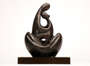 Love Forever by Manjari Goenka, Art Deco, Decorative Sculpture | 3D, Bronze, White color