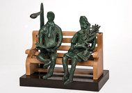 Relaxing by Manjari Goenka, Art Deco Sculpture | 3D, Bronze, Gray color