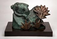 Buddha Divine by Manjari Goenka, Art Deco Sculpture | 3D, Bronze, Gray color