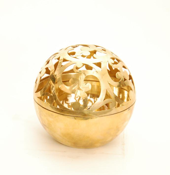 Sandook Sphere Bowl N Vase Br Bowl By AKFD