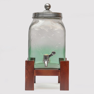 Sea Green Mason Jar Glass Dispenser Decorative Container By The Yellow Door