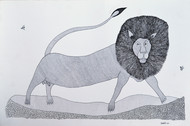 Jogi by Unknown Artist, Folk Painting, Etching on Paper, Gray color