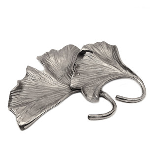 Silver Ginkgo Double Leaf Platter Platter By The Yellow Door
