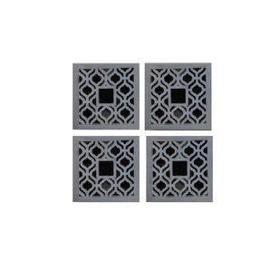 GREY SQUARE WALL ART: SET OF 4 Wall Decor By The Yellow Door