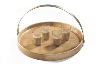 Brass Band Round Tray WO Tray By AKFD