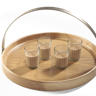 Brass Band Round Tray WO Tray By AnanTaya