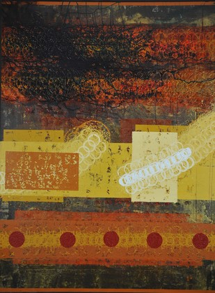 Unknown Path by Sidharth Pansari, Abstract Painting, Acrylic on Canvas, Brown color