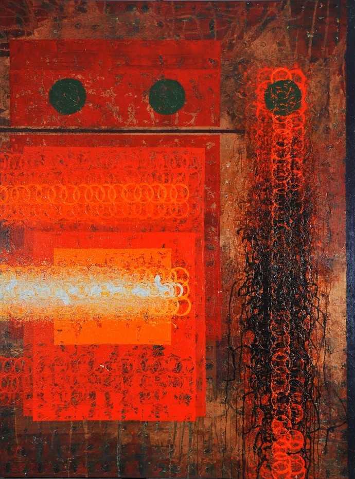 Unknown Identity by Sidharth Pansari, Abstract Painting, Acrylic on Canvas, Brown color