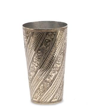 Nafees Lassi Glass Bel Brass Serveware By AnanTaya