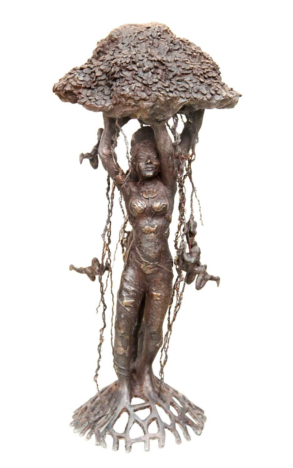 Tree of Life by Seema Kohli, Art Deco Sculpture | 3D, Bronze, White color