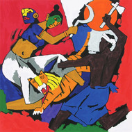 Kerala II by M F Husain, Expressionism Printmaking, Serigraph on Paper,