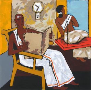 Kerala V by M F Husain, Impressionism Printmaking, Serigraph on Paper,