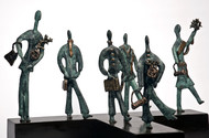 Vogue by Manjari Goenka, Art Deco Sculpture | 3D, Bronze, Gray color