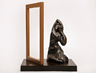 Shringaar by Manjari Goenka, Art Deco Sculpture | 3D, Bronze, Gray color