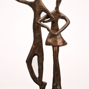 Tango by Manjari Goenka, Art Deco Sculpture | 3D, Bronze, White color
