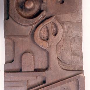 Sadhana by Manjari Goenka, Art Deco Sculpture | 3D, Wood, Brown color