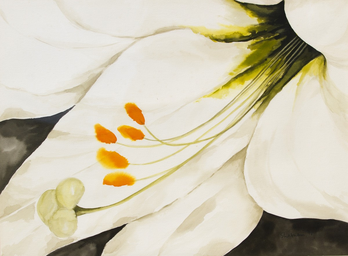 Purity by shabnam anand Singh, Impressionism Painting, Watercolor on Paper, Beige color