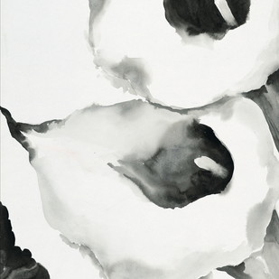 Calas In White by shabnam anand Singh, Impressionism Painting, Watercolor on Paper, Gray color