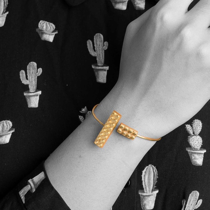 Lego Band by Studio Kassa, Art Jewellery, Contemporary Bracelet
