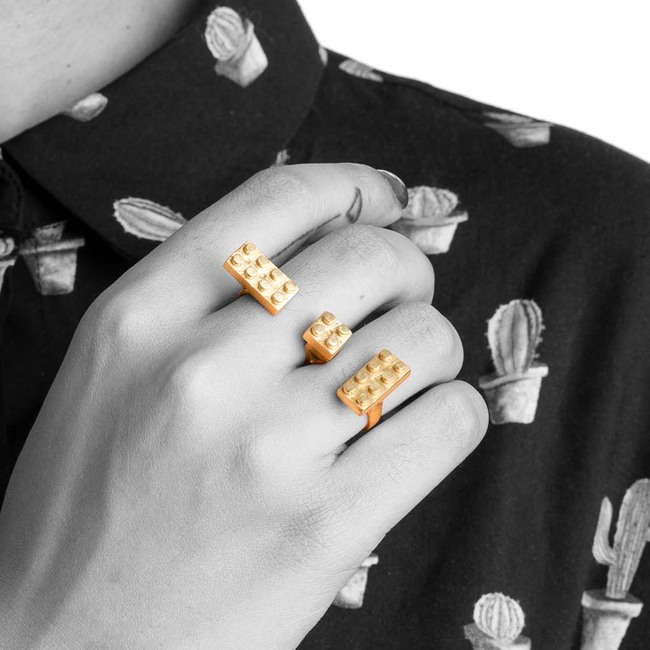 Lego Double Knuckle by Studio Kassa, Art Jewellery, Contemporary Ring